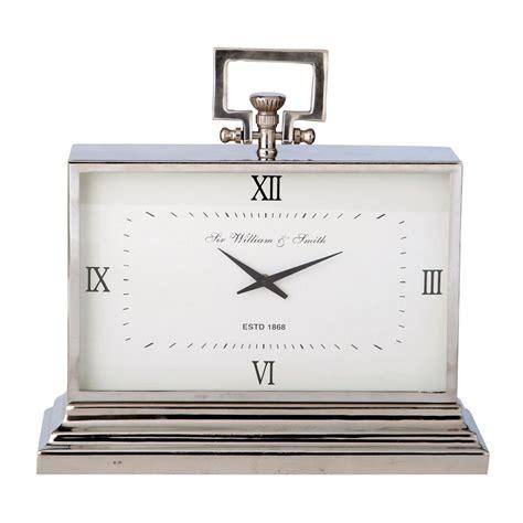horloge 224 poser en m 233 tal effet chrom 233 kingston maisons
