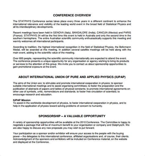 software corporate sponsorship proposal