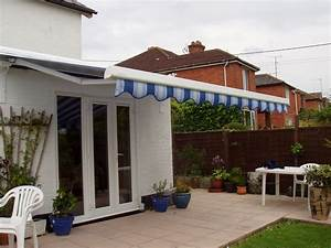 Patio Awning Fitted To A Flat Roof Extension