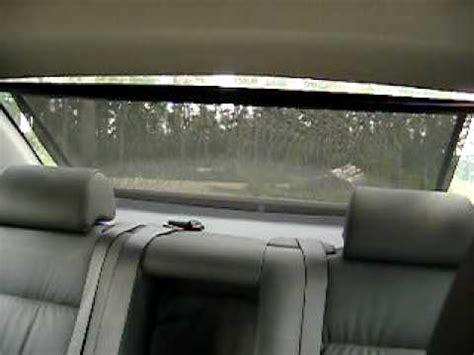 bmw  electric sun blind rear window youtube