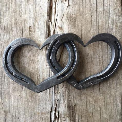 personalized interlocking horseshoe hearts  weddings