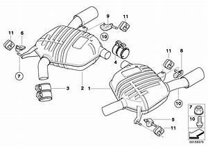Bmw 335xi Rear Muffler Right  System  Silencer  Exhaust