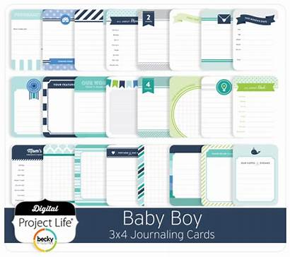 Cards Journaling Boy Edition 3x4 Digital Project
