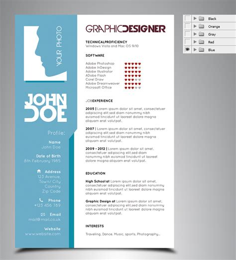 Graphic Resume Templates Free by Resume Cv Templates