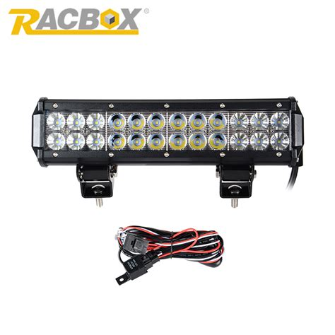 racbox 12 inch 72w led light bar with cree led chips