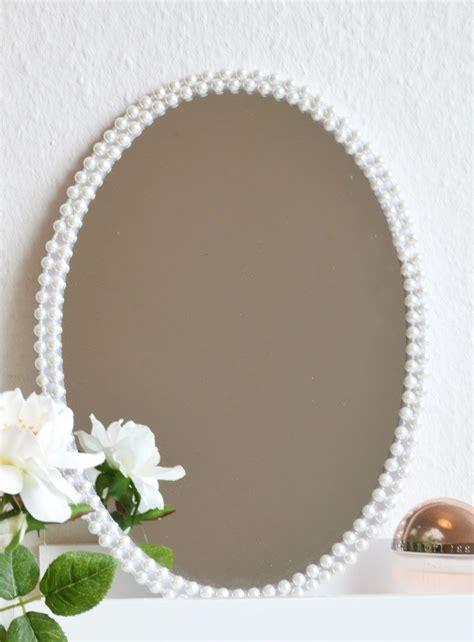 Spiegel Zum Basteln by Perlen Oder Seil Rahmen F 252 R Alten Spiegel Basteln Diy