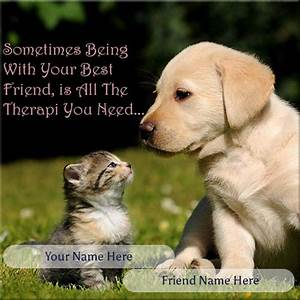 WRITE NAME ON FRIENDSHIP PICTURE