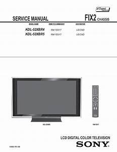 Sony Kdl 52xbr4 Kdl 52xbr5 Tv Service Manual