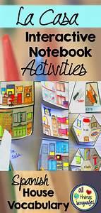 Spanish La Casa House Interactive Notebook Activities