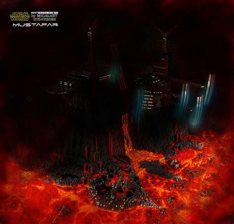 lego build recreates lava laced star wars locale