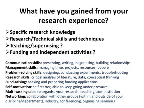 cv advice for postgraduates and postdoctoral researchers