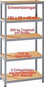 Küchenarbeitsplatte 90 Cm Tief : steckregal schwerlastregal regal 180 x 90 x 45 cm 5 b den 265 kg pro boden ebay ~ Frokenaadalensverden.com Haus und Dekorationen