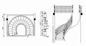Spiral staircase free CAD block - cadblocksfree -CAD