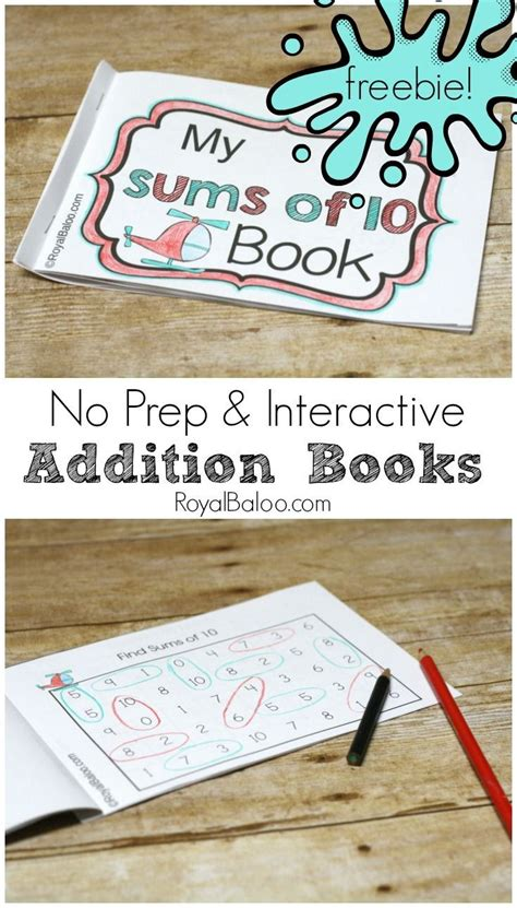 prep addition booklets  interactive math practice
