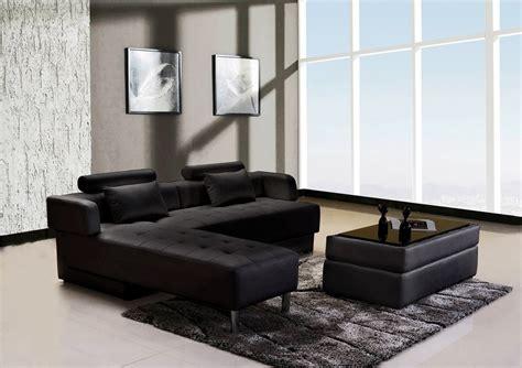 canapé d angle convertible cuir noir canapé d 39 angle cuir noir réversible et convertible largo