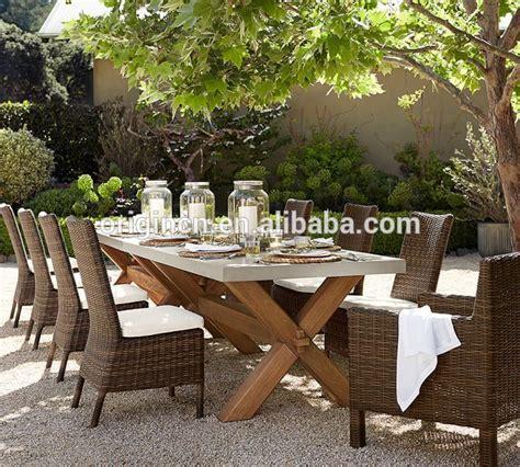 abbott outdoor patio zinc top rectangular fixed wooden