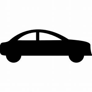 Sedan car side black silhouette Icons | Free Download