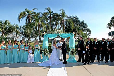 tiffany blue outdoor wedding  hillcrest gcc  hollywood