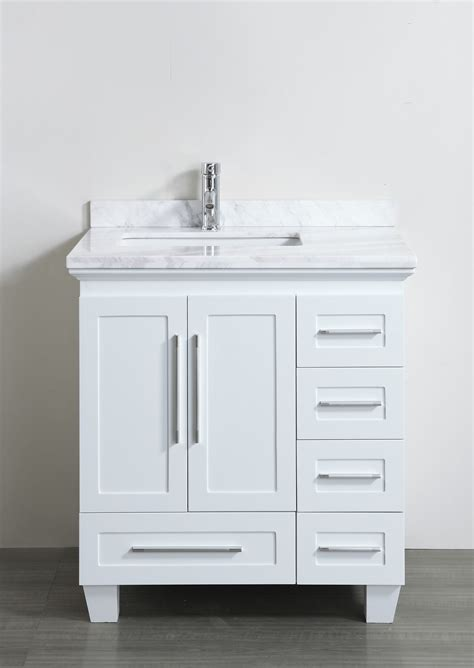 accanto contemporary   white finish bathroom vanity