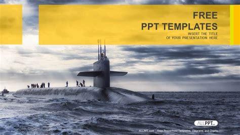 submarine sailing military powerpoint templates