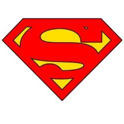 Superman Logo Stencil Template