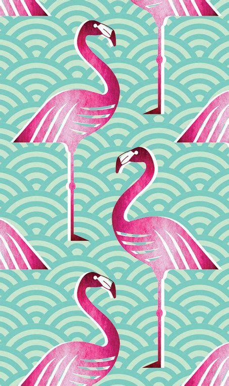pink flamingo wallpaper  handmadebymeshop  etsy