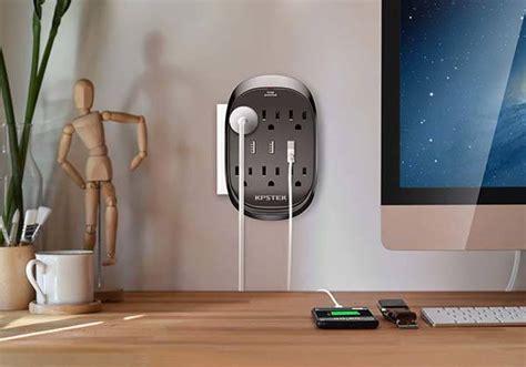 kpstek wall outlet extender  usb ports gadgetsin