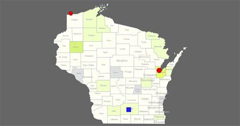 interactive map  wisconsin clickable counties cities