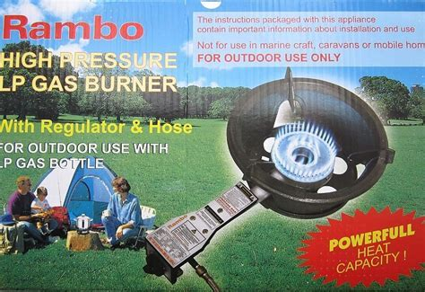 Rambo Safety High Pressure Gas Wok Burner