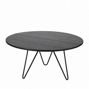 Table à Manger Bois Et Métal : table manger ronde bois et m tal circle bu drawer ~ Teatrodelosmanantiales.com Idées de Décoration