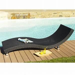 Bain De Soleil Résine Tressée : chaise longue en resine tressee design en image ~ Dailycaller-alerts.com Idées de Décoration