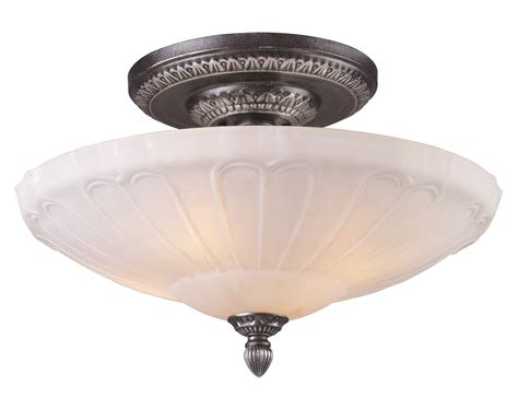 elk lighting 66093 4 restoration semi flush ceiling fixture
