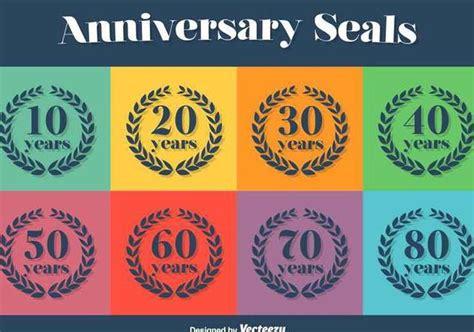 anniversary vector icon set  vector