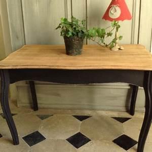 Table Bois Naturel : table basse style louis xv patine noire plateau en bois ~ Teatrodelosmanantiales.com Idées de Décoration