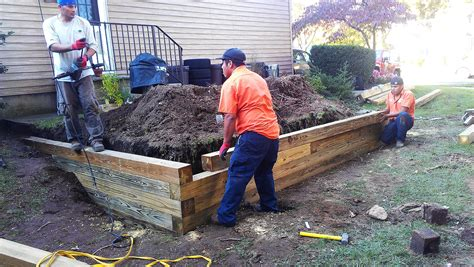 how to build a small retaining wall with wood retaining walls almost perfect landscaping