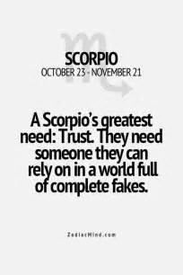 Scorpio and Trust