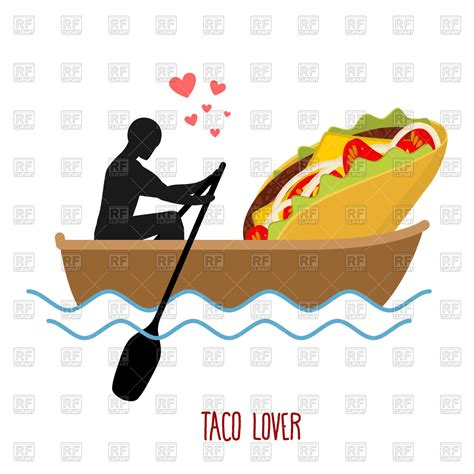 Love Boat Clipart by Love In Boat Man And Taco Ride In Boat Royalty Free