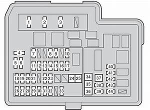 Toyota Yaris Hybrid Mk3  From 2012  - Fuse Box Diagram