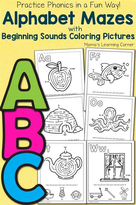 alphabet mazes mamas learning corner 986 | Alphabet Mazes 1