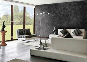 Wandgestaltung Putz Effekt : wandgestaltung mit spachteltechnik wohnzimmer wand dunkle tone helle einrichtung modern wohnen ~ Eleganceandgraceweddings.com Haus und Dekorationen