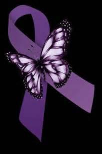 Purple Ribbon Lupus Awareness Butterfly