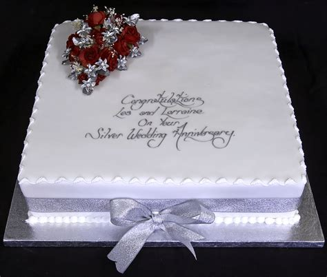 red  silver anniversary cakes design wedding cakes
