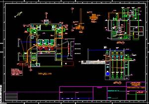 Force Fed Sewage Pumping System Dwg Block For Autocad