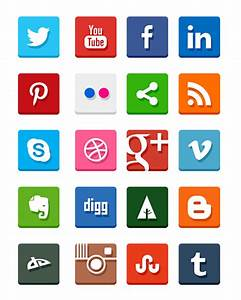 20 Free Social Media Icon Sets to Use on Your Website