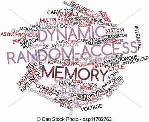 Stock Illustration of Dynamic random-access memory ...