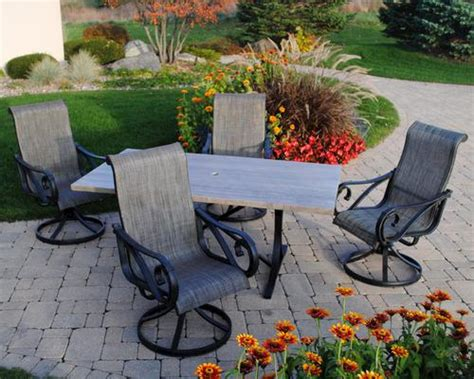 backyard creations 5 boulder creek dining collection