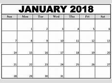 January 2018 Calendars Calendar And Images