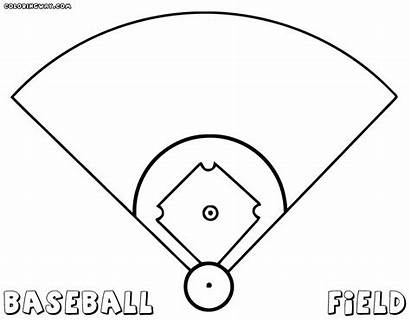 Baseball Field Coloring Pages Diamond Drawing Getdrawings