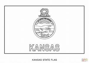 Flag Of Kansas Coloring Page Free Printable Coloring Pages