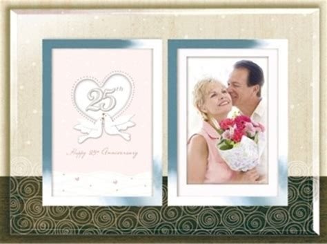 anniversary double photo frame